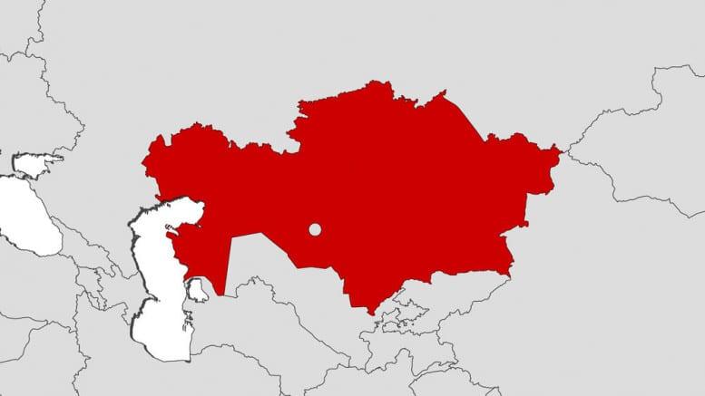 Mapa de Kazajistan