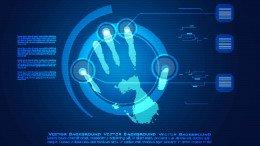 Mano digital para simbolizar identidad digital
