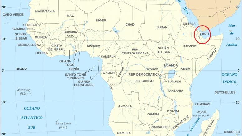 Mapa Yibuti
