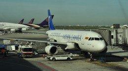 avion en el aeropuerto sri lanka